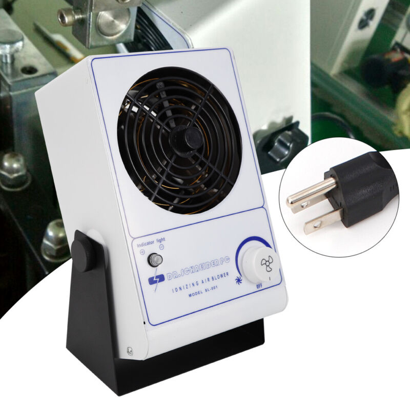Ionizing Air Blower Fan Discharge Static Eliminator Antistatic Cleanroom 110V