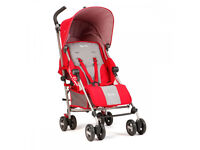 Silver Cross Zest stroller - Chilli. With rain cover.