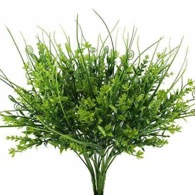 Artificial Outdoor Plants, 4PCS Fake Greenery Bush Faux Plastic Wheat   ()