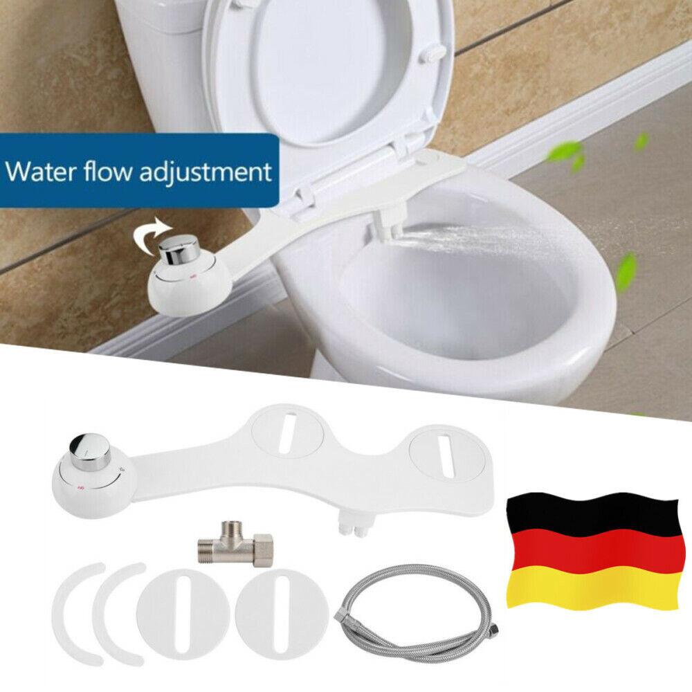 Dusch WC Bidet Intimpflege Taharet Toilette Aufsatz Wasserdruck Einstellbar Weiß