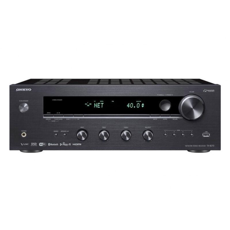 Onkyo TX 2.0-Ch. Hi-Res 4K Ultra HD A/V Home Theater Receiver Black TX-8270