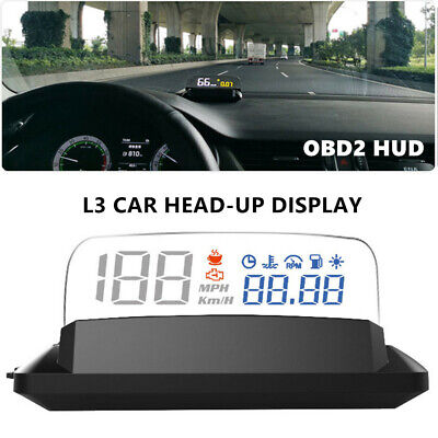 5inch L3 OBD2 Heads Up Display Car Universal HUD With Reflection Board Part Trim