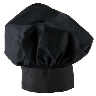 New Easy Wear Chef Hat Black Cloth One Size Fit All Free Shipping Usa