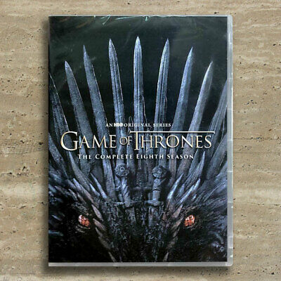 Game of Thrones: Complete Season 8 (4-Disc DVD, 2019) - BRAND NEW Fast Shipping