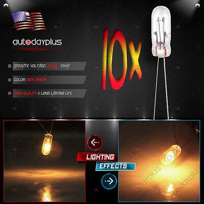 (10Pcs Amber Mini Bulbs Lamps For GM Speedometer Cluster Backlight Light 12v 95ma)