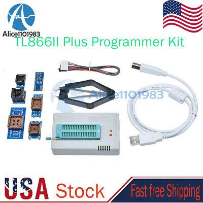 Tl866ii Plus Programmer Kit Eprom Eeprom Flash Mini Pro Bios Avr Al Pic Sp Mcu