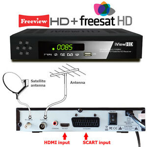 HD COMBO Freeview HD + FreeSat HD Receiver +RECORDER DIGITAL TV Set Top Digi Box