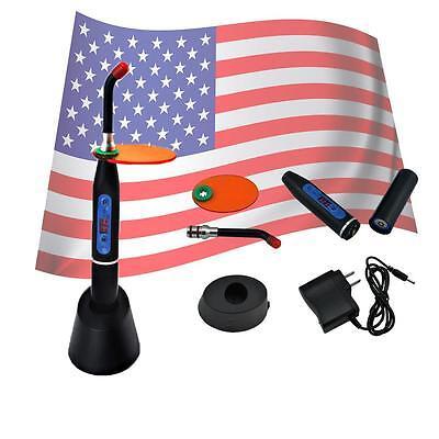 Dental Wireless Cordless Led Curing Light Lamp 10w 2000mw Black Color Fda