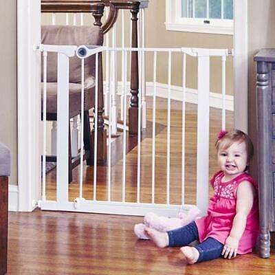 "Toddleroo by North States Essential Walk-Thru Baby Gate, 29.8""-38.1"" Wide, White"