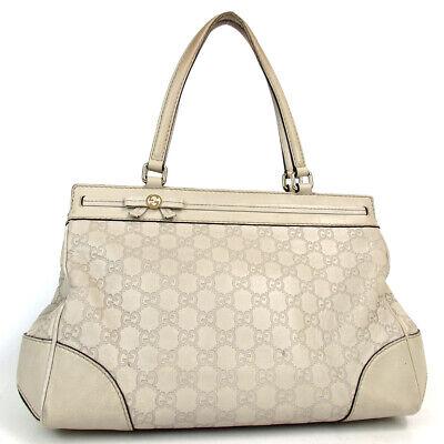 Authentic GUCCI 257063 Gucci Shima Mayfair Handbag Calfskin leather[Used]