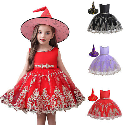 Scary Halloween Costumes For Girls Age 10 (Girls Witch Costume Child Halloween Wicked Fancy Dress Outfit Scary Kid Age)