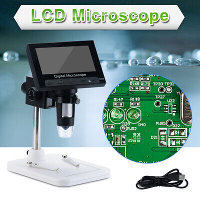 4.3 1000x Hd Lcd Monitor Electronic Digital Video Microscope Led Magnifier Fast