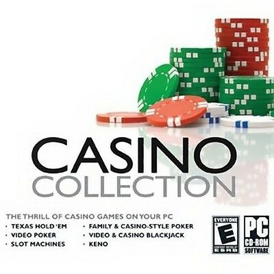Casino Collection PC Game Window 10 8 7 XP Computer poker keno slots machine NEW
