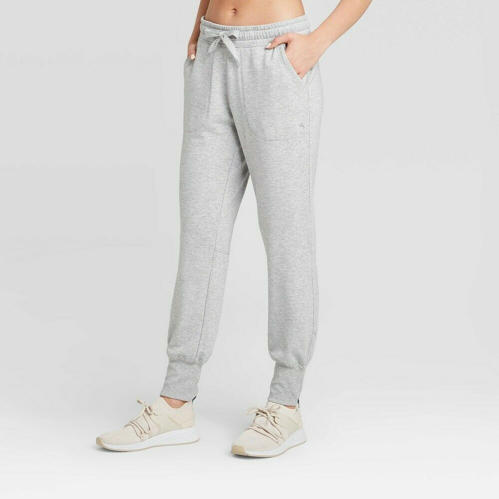 JoyLab Women's Mid-Rise Cozy Jogger – Heather Grey XS Activewear