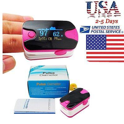 Usa Pocket Fingertip Pulse Oximeter Oled Blood Oxygen Spo2 Monitor Home Medical