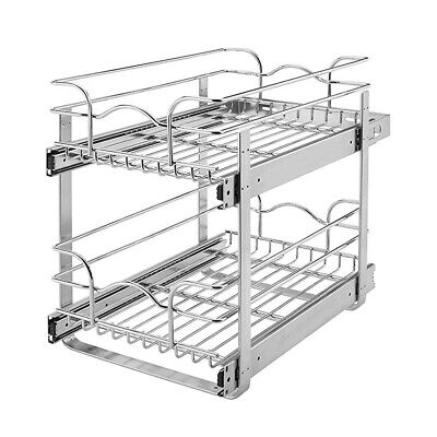 Rev-A-Shelf 5WB2-0918-CR Base Cabinet Pullout 2 Tier Wire Ba