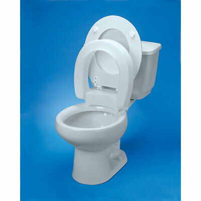 Maddak Inc Tall-ette Hinged Elevated Toilet Seat Elongated 350lb Capacity ()