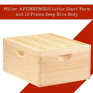 NEW Miller APIDEEPBOX10 Little Giant Farm and 10 Frame Deep Hive Body Condition: New