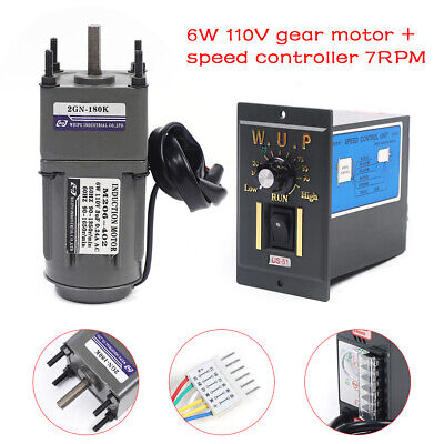 6w Ac110v Gear Motor Electric Motor Variable Speed Controller 1180 7.5rpm Usa