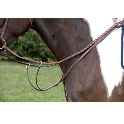 NEW Coronet Exselle Elite Plain Raised Breastplate with Running Attachment - Cob