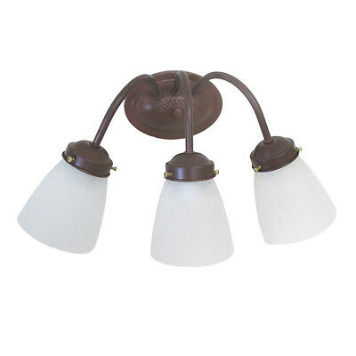 3 Light Cobblestone Wall (Cobblestone and Frosted Ribbed Glass 3 Light  Bath Wall Light  )