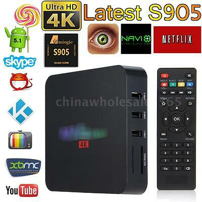 Fully Loaded Smart Android 6.0 S905X Quad Core TV Box 4K WIFI Movie Media Player