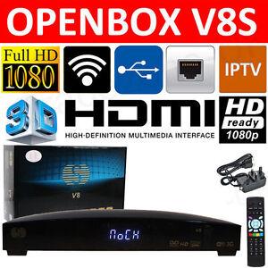 Openbox V8S HD FTA IPTV Web TV Satellite Receiver Set top Sky Box Wifi Adapter