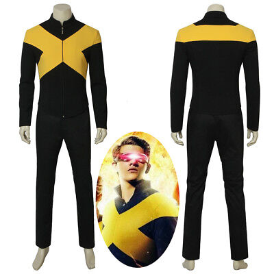 Movie X-Men Dark Phoenix Cyclops Scott Summers Cosplay Costume Halloween (Cyclops Kostüm Cosplay)