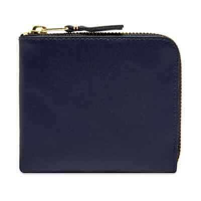 Comme Des Garçons SA3100 Navy Smooth Leather Unisex Wallet BNIB $100 -50% OFF