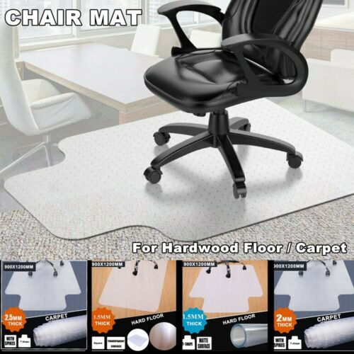 PVC Protector Computer Desk Chair Mat For Hardwood Floor / C