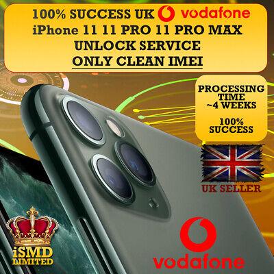 PERMANENT UNLOCK UK GB VODAFONE IPHONE 11 11 PRO MAX  UNLOCKING IMEI SERVICE