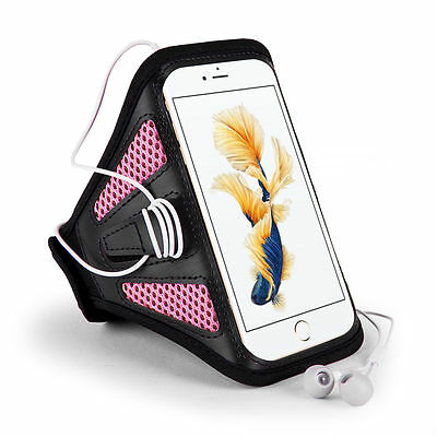 Workout Sports Armband Case Arm Band For Apple Iphone 7 Plus /6S Plus Black/Pink