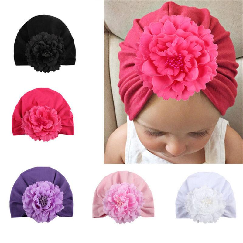 kleinkind elastische headwrap mädchen turban baby hut beanie mütze blümchen