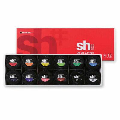 SHINHAN SH Poster Color Paint 30ml Jar 12 Color Set