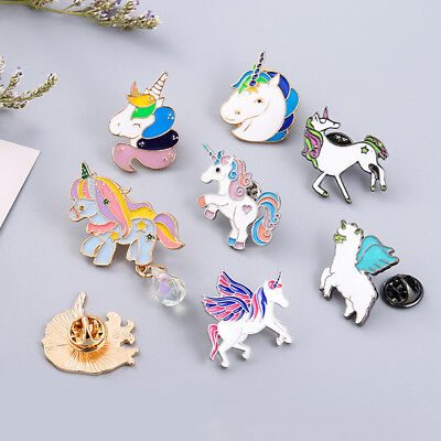 Colorful Cute Unicorn Brooch Fly Horse Shirt Breastpin Pins Badge Costume - Cute Unicorn Costume