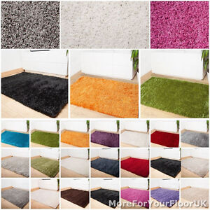shaggy rugs cheap small medium large 20 colours living room bedroom