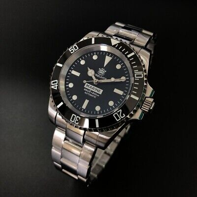 STEELDIVE SD1954 AUTOMATIC DIVER SEIKO NH35, SUBMARINER HOMAGE Fast US Ship
