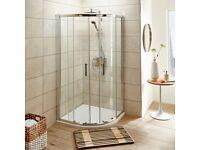 Quadrant shower enclosure + Tray
