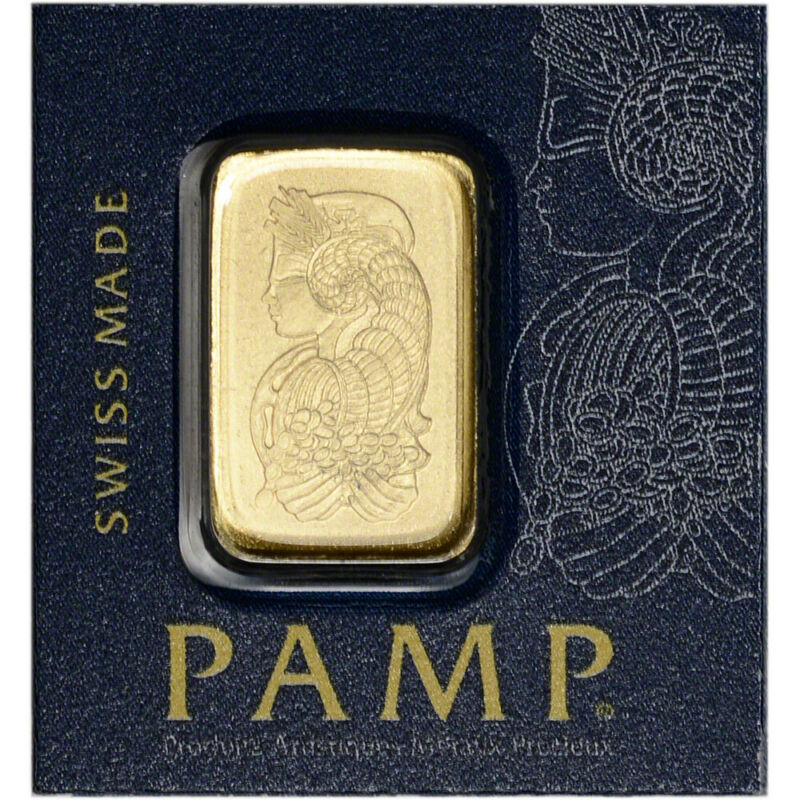 1 gram Gold Bar PAMP Suisse Fortuna from Gold Multigram 9999 Fine