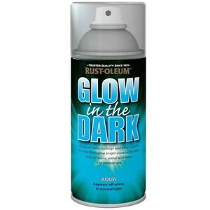 Rust-Oleum Glow In The Dark Aqua Glowing Aerosol Spray Paint - 150ml