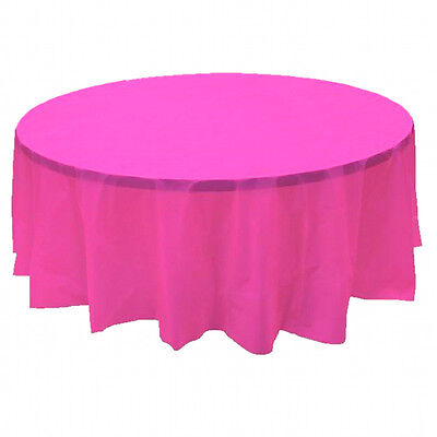 2 Plastic Round Tablecloths 84