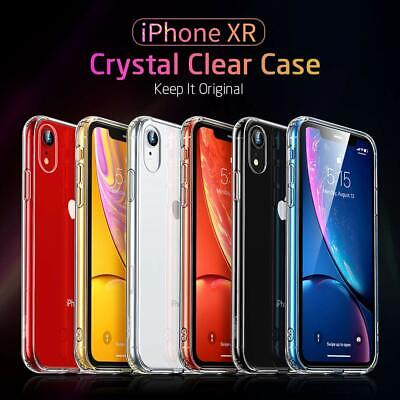 GKK Luxury Case for Apple iPhone XR Soft TPU Glass Transparent Crystal COVER Soft Crystal Case