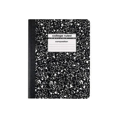 Staples Composition Notebook 9.75 X 7.5 College Ruled 100 Sh. Black 919350