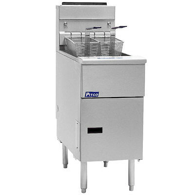 Pitco Sg14s Solstice Gas Floor Model Tube Fryer 40-50 Lb. Capacity
