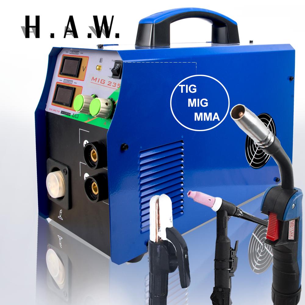 High Quality MIG 235 3 in 1 Welding maching 110/220V TIG/MMA