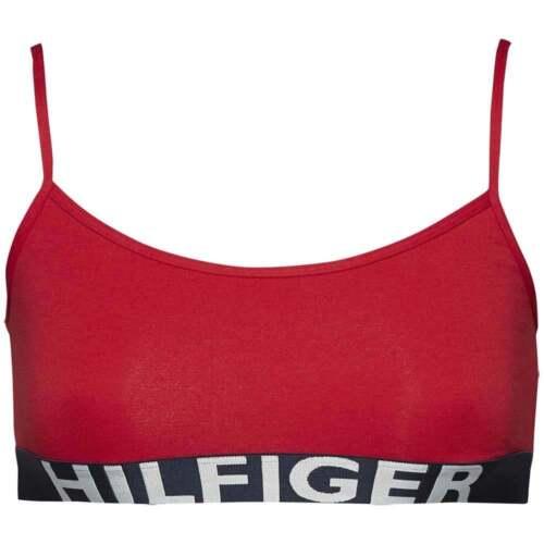 Red Bra Tommy Hilfiger Women/'s Sport Style Slip-On Mesh Cotton Stretch Bralette