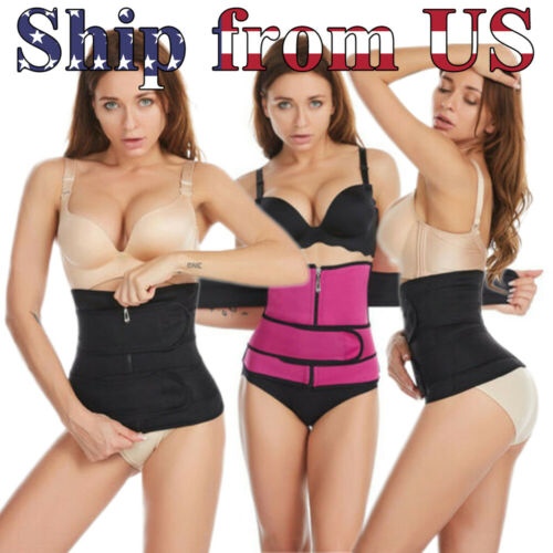 Women Waist Trainer Body Training Shaper Sweat Belt Tummy Control Cincher Girdle