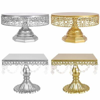 Round /Square Wedding Cake Stand Metal Dessert Cupcake Holder Display Pedestal](Cheap Cake Stands)