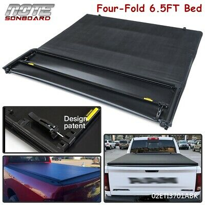 4 FOLD 6.5FT Truck Tonneau Bed Cover For 2002-2021 Dodge Ram 1500 2500 3500