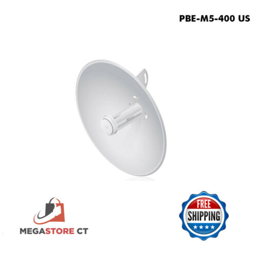 Ubiquiti PBE-M5-400 US 5ghz 25dBi airMAX Bridge CPE 150 Mbps (US Version)